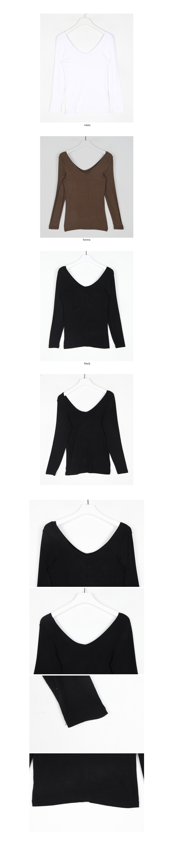 deep neck line t-shirt (3colors)