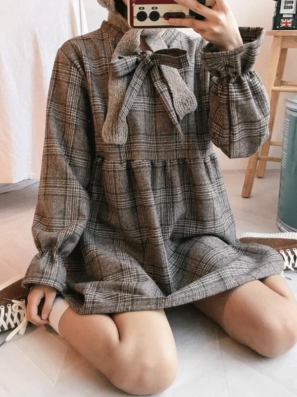 Satin ribbon dress