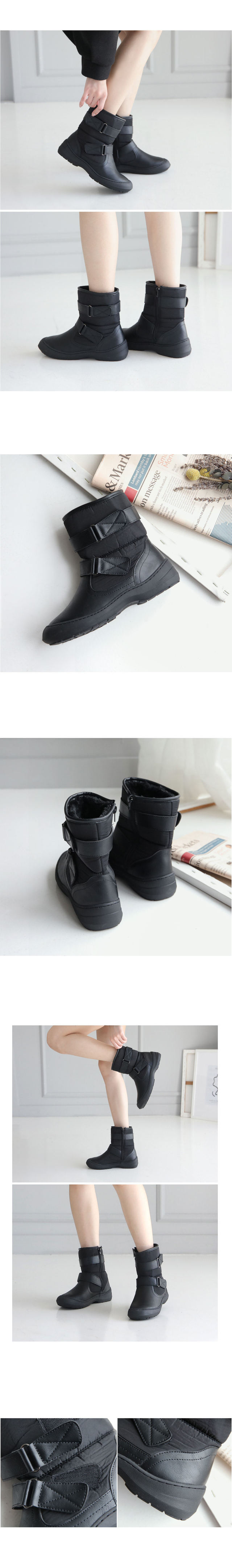 Ronence Velcro Faded Boots 4cm