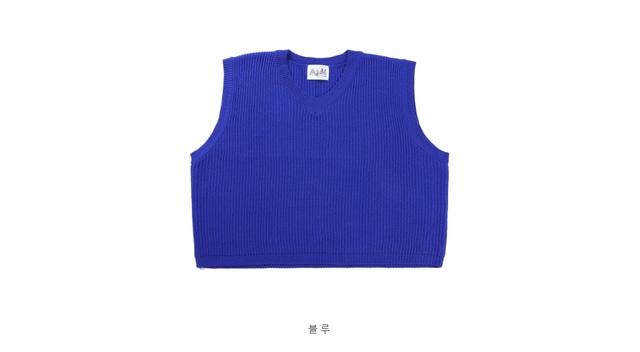Fondant knit vest in my heart