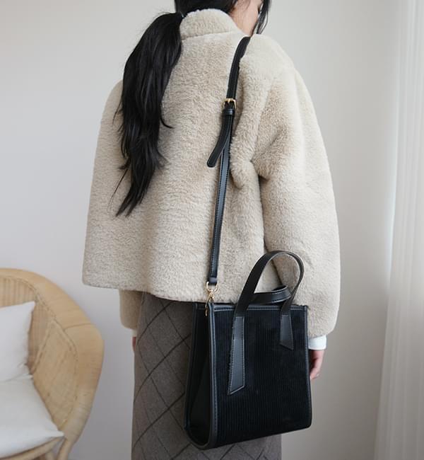 Corduroy combine mini bag