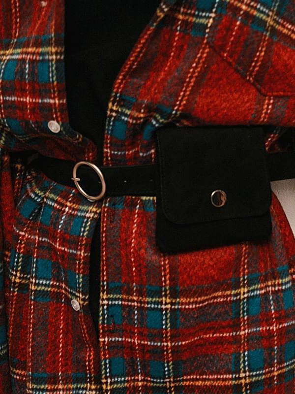 Suede mini belt bag 手拿包