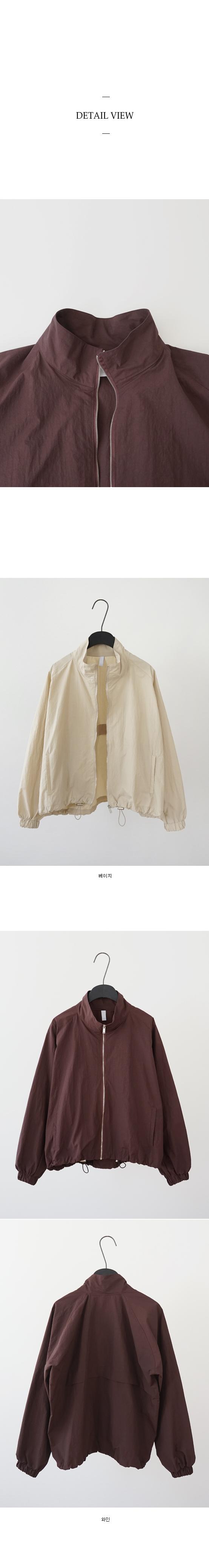 string zip-up anorak (2colors)