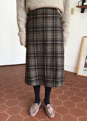 Wool 70 margaret check skirt