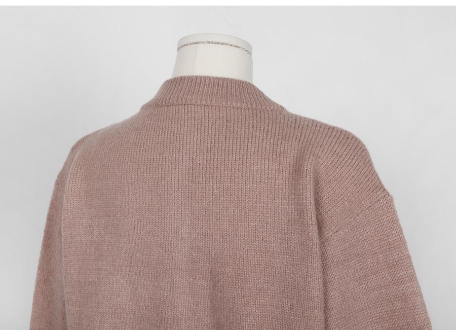 Muffin knit cardigan_H (size : free)