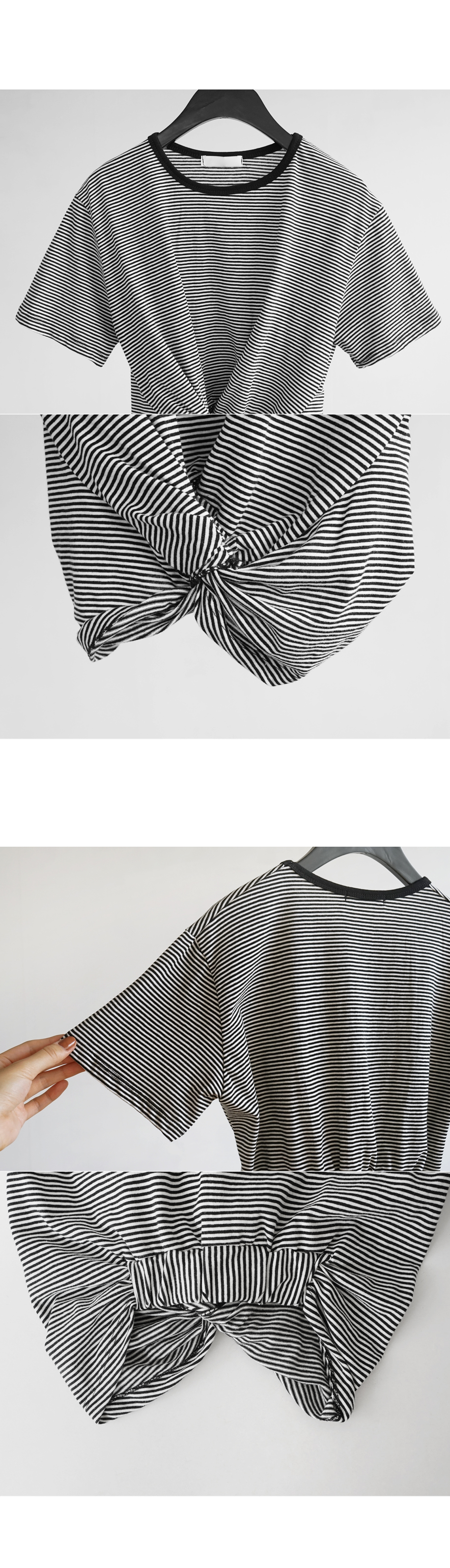 twist stripe tee (2colors)