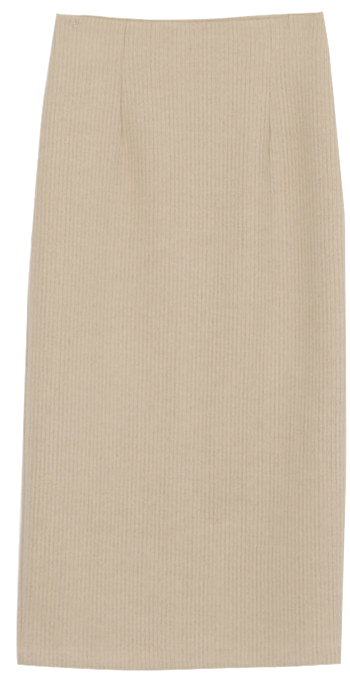 Corduroy high long skirt