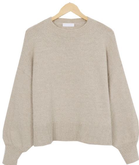 Alpaca wool puff knit