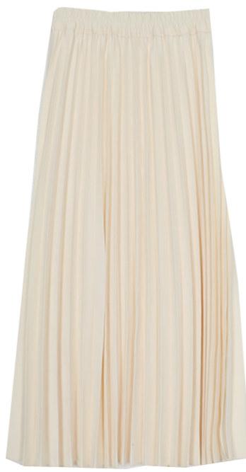 Shadow wrinkle long skirt