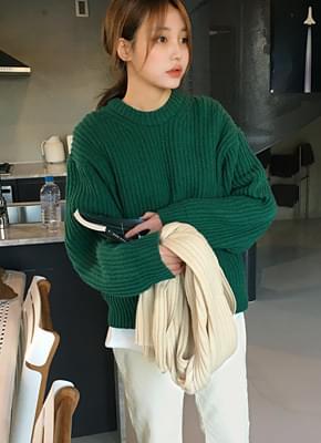 Wool hatch knit