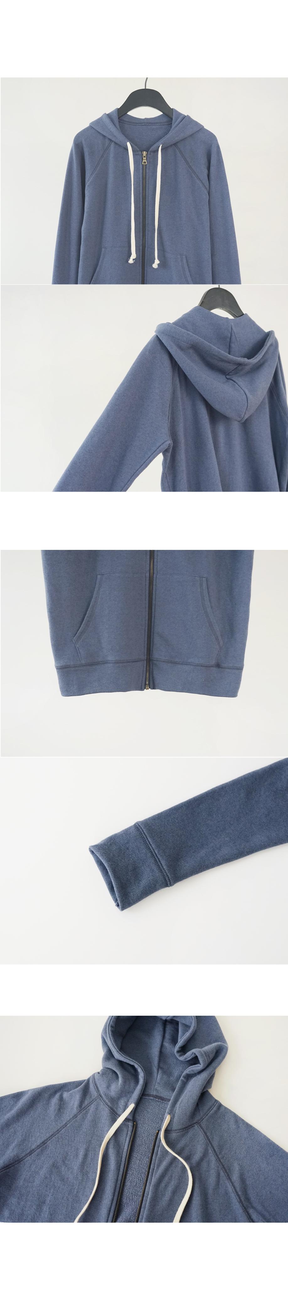 easy tidy hood zip-up (2colors)