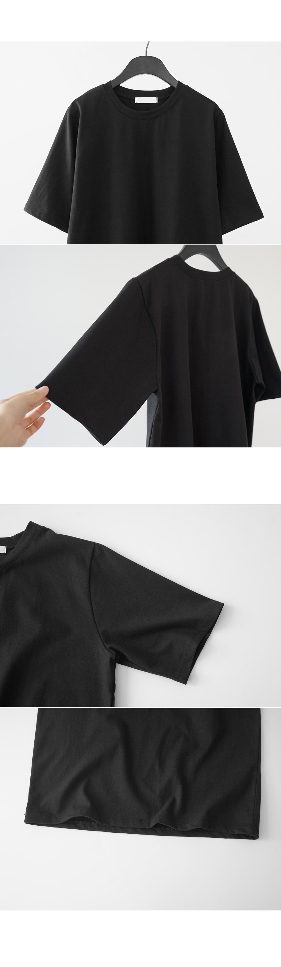 wide neckline T-shirt (4colors)