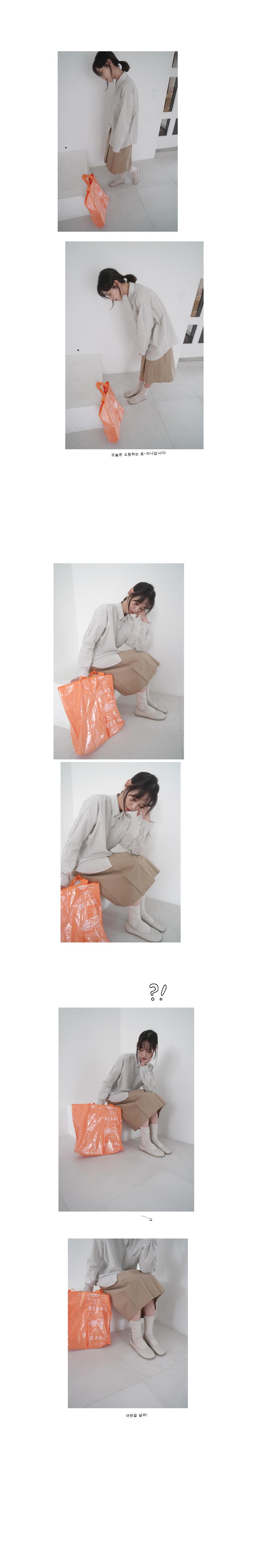 folded slit long skirt (3colors)