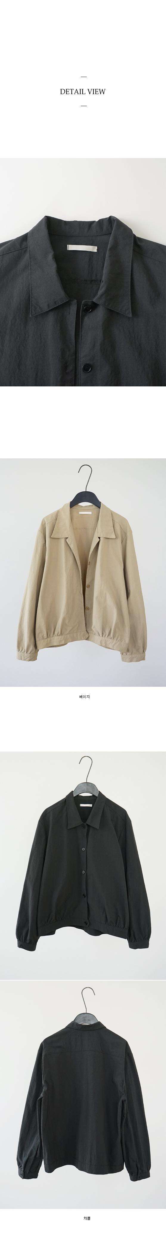 crispy coating blouson jacket (2colors)
