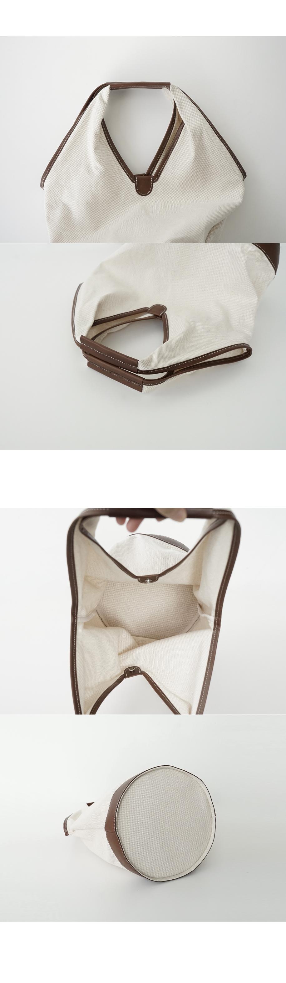real leather line cylinder bag