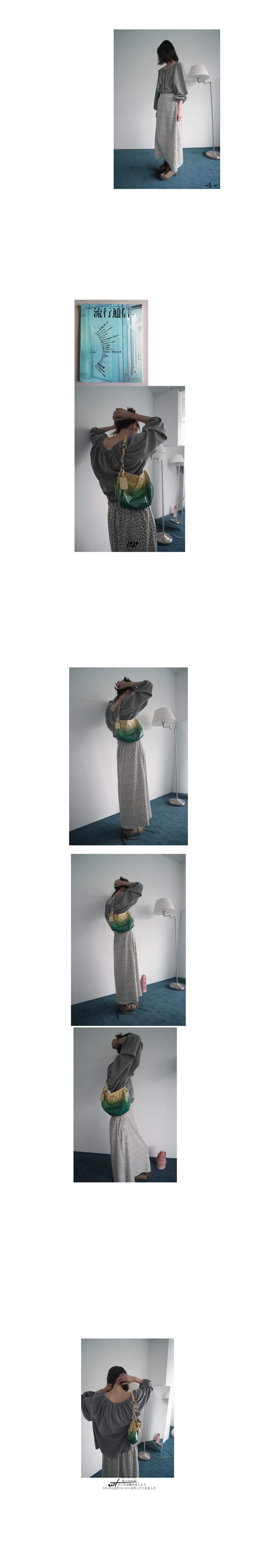 floral semi A-line maxi skirt (2colors)