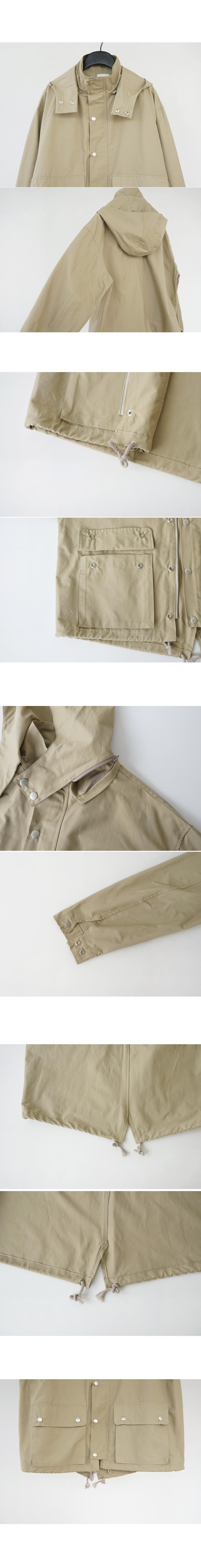 boxy hoodie field jumper (3colors)