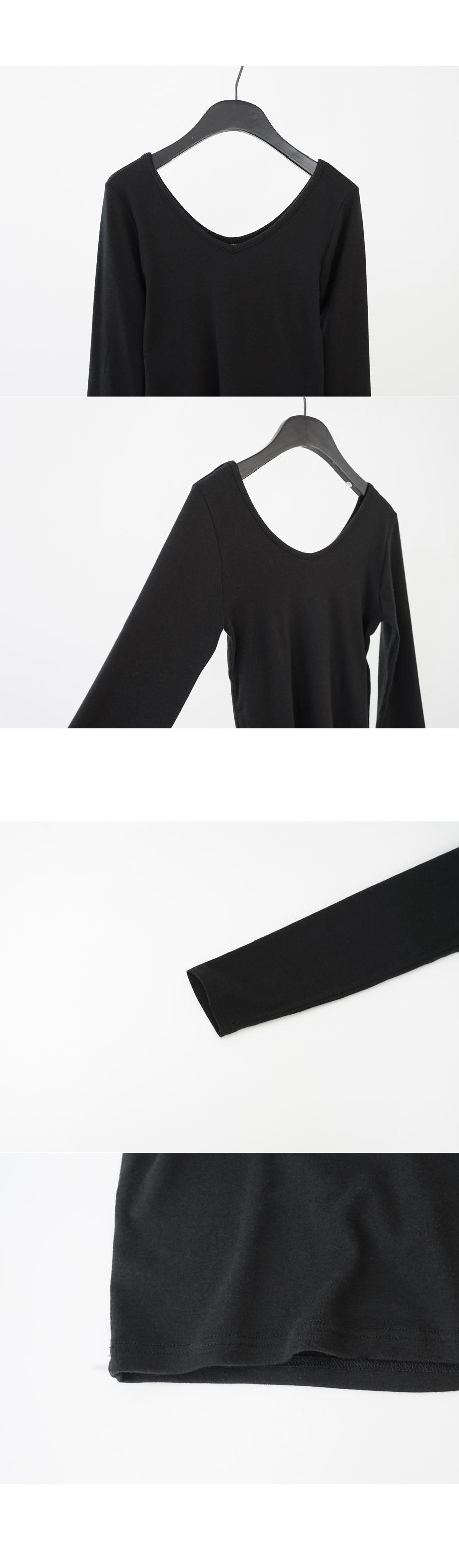 basic layer U-neck tee (5colors)