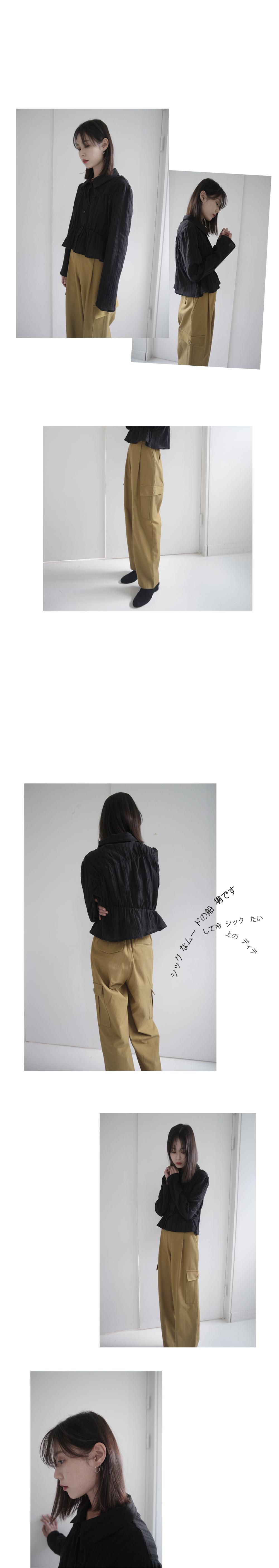banding line collar blouse (2colors)