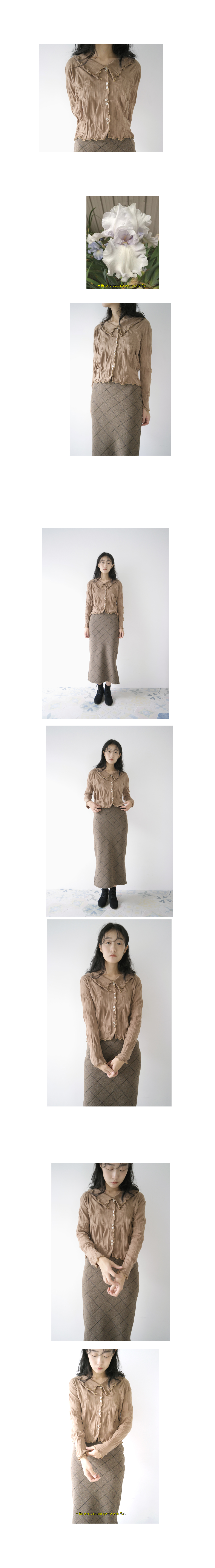 warm wide check skirt (2colors)
