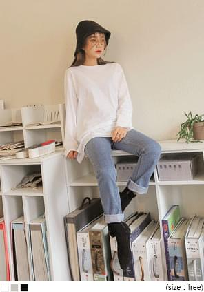 DAILY SLIT COTTON LAYERED LONG T