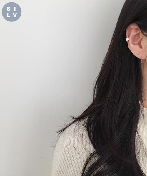 (silver925) bold earcuff