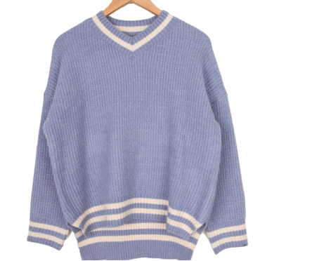 Smooth twine color knit