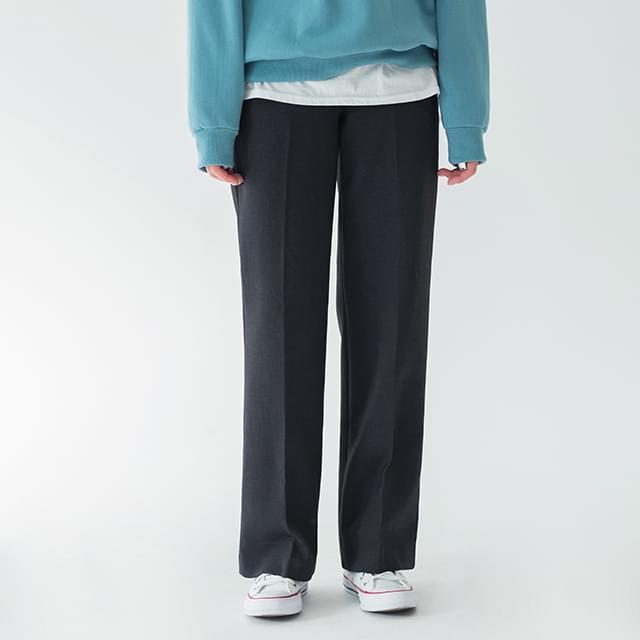 warm straight slacks