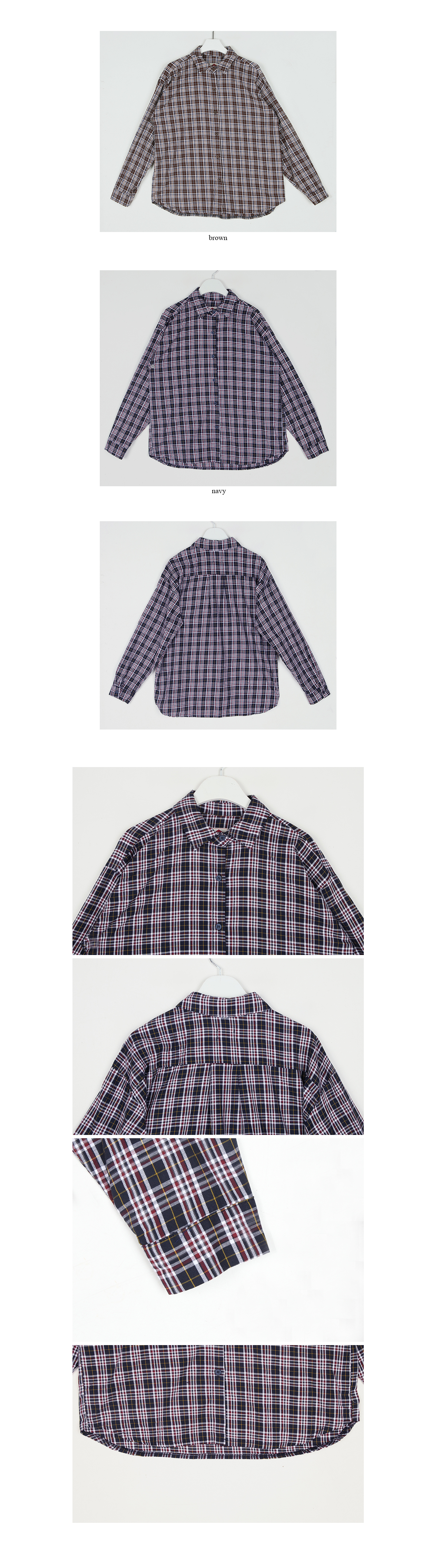 autumn check shirt (2colors)