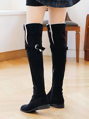 My Khe Shearling knee-high boots 2.5cm