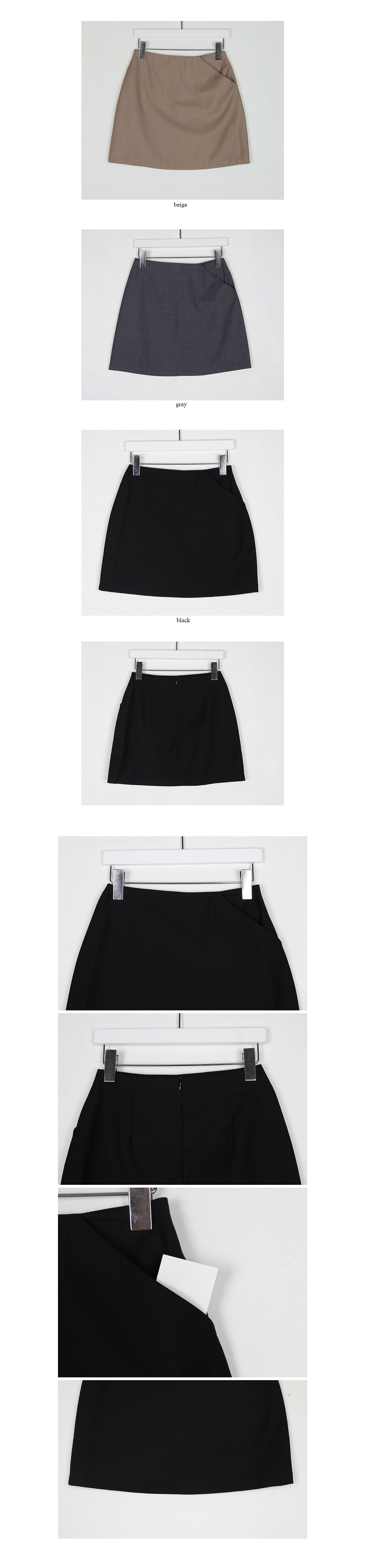 womanly mini skirt (3colors)