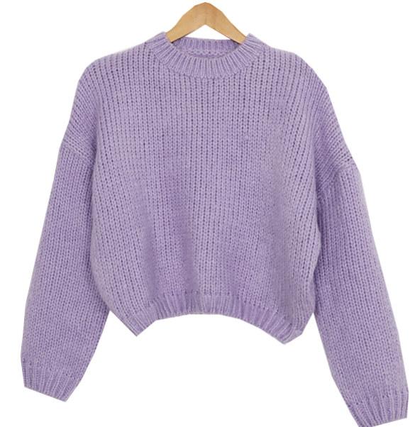 Pie van crop wool knit