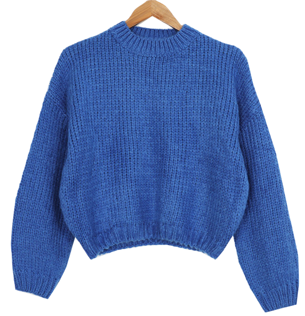 Pie van crop wool knit