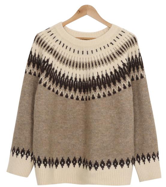 Winter snowflake wool knit