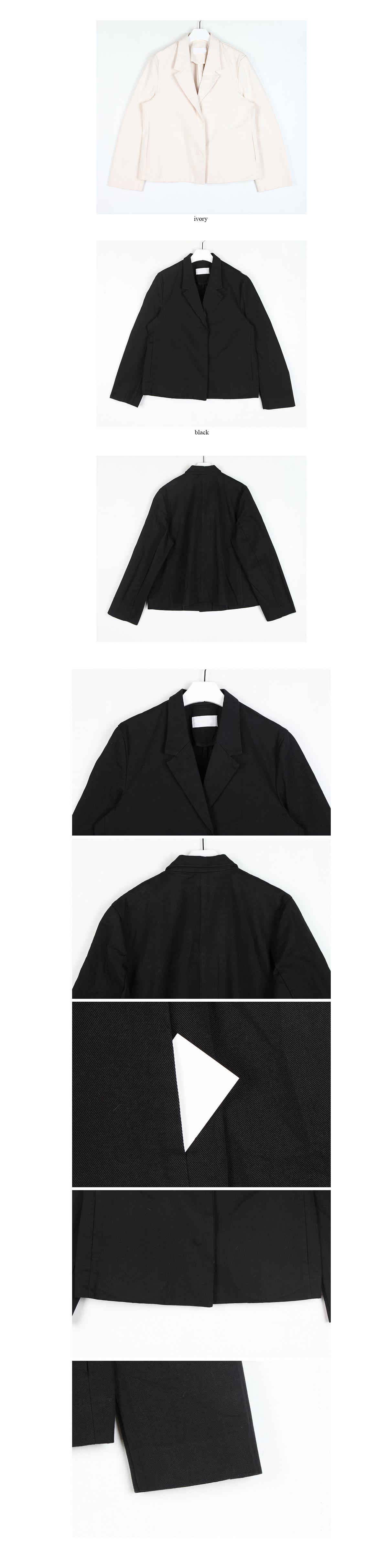 snap button cotton jacket (2colors)