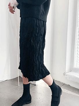 Suede El Long Skirt