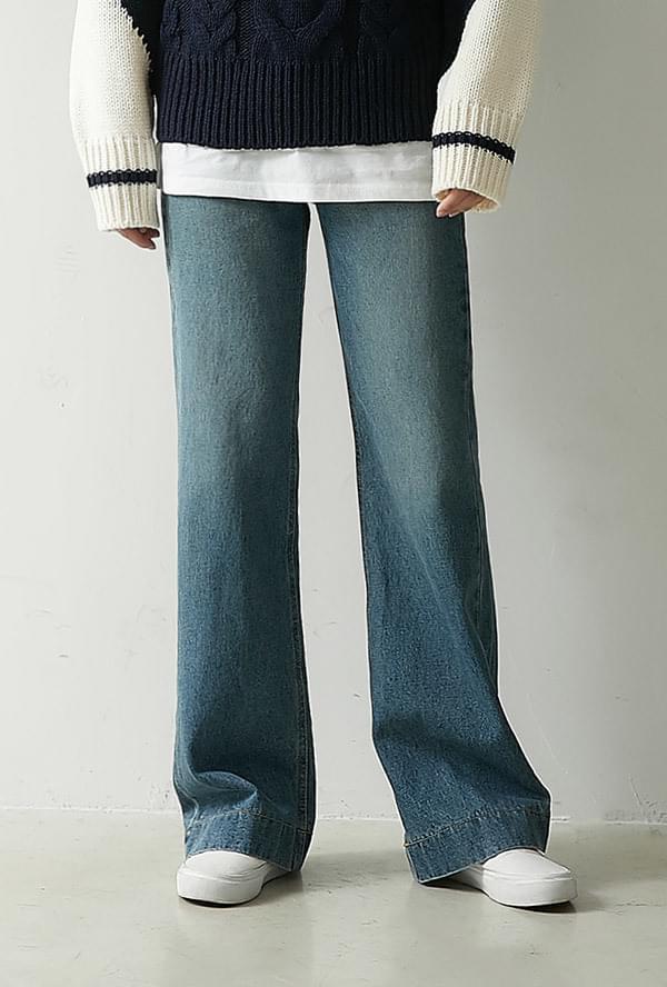 Mute Straight Denim Pants