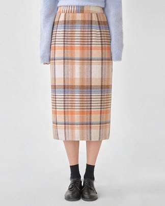 ere vintage wool check skirt