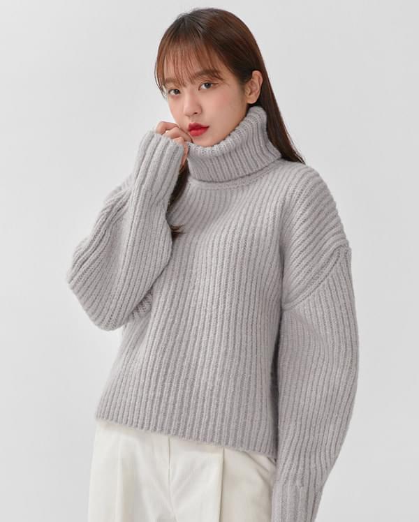 volume wool polar knit