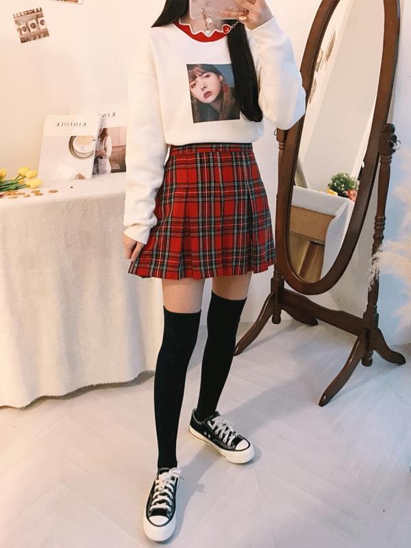 Merit tartan check skirt