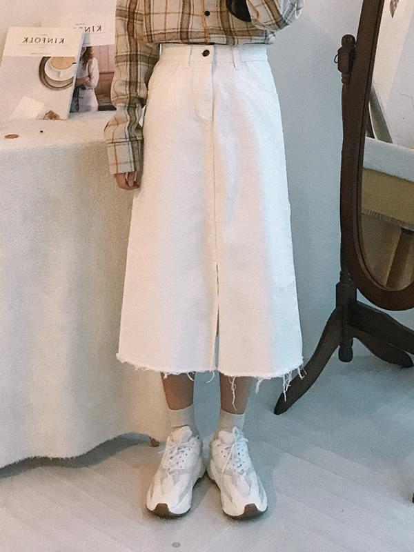 Basic Cotton Long Skirt