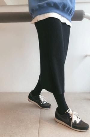 Next-knit long skirt