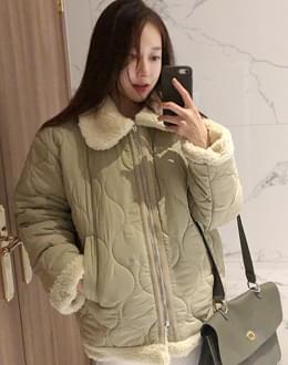 Quilted fleece collar jp