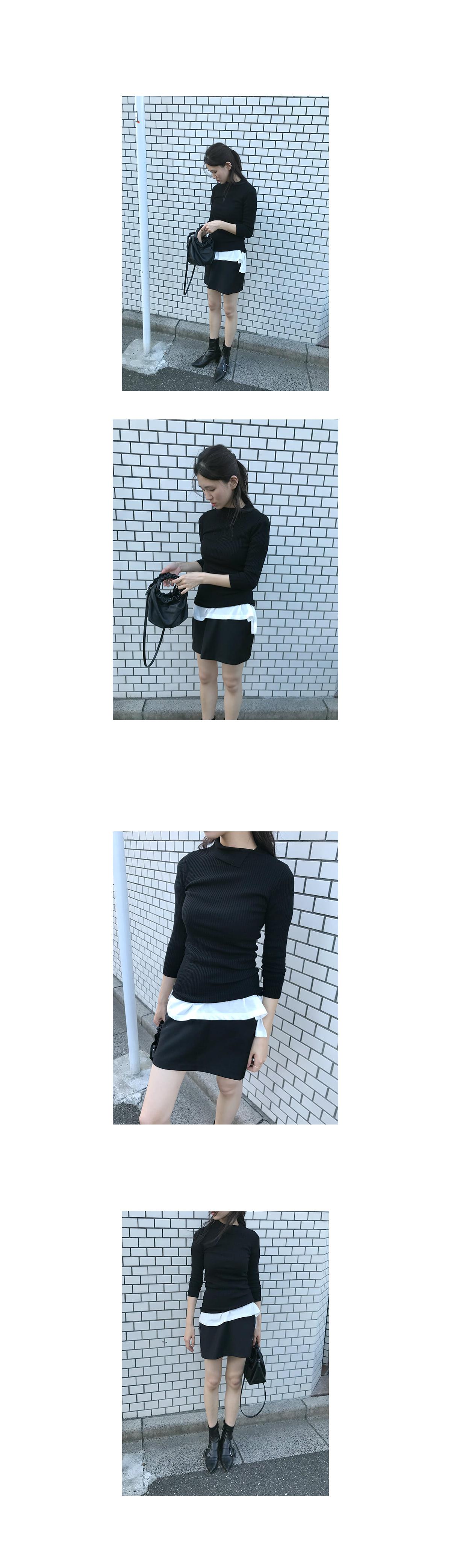 china collar knit top (4colors)