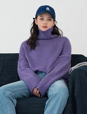 sugar wool turtle neck knit