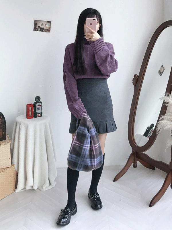 Checker Mini Wrist Bag