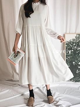 Layered Haydn frill long dress