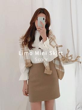 Wool Rim Mini Skirt