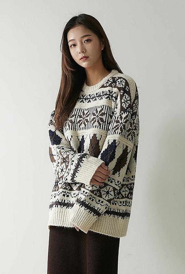 Moron Argyle knit