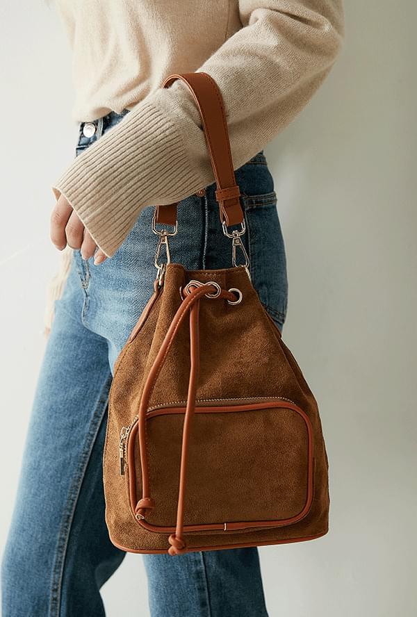 Copper Velvet Buckle Bag